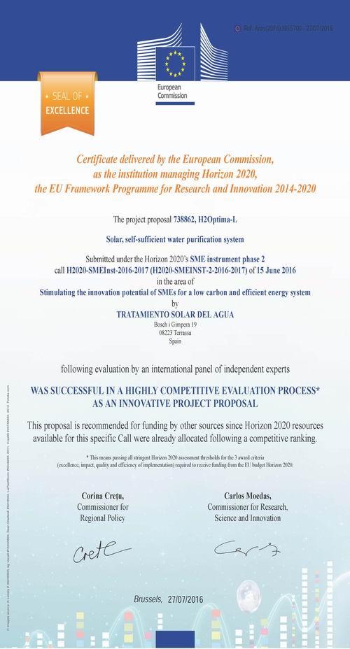 Sello de excelencia UE